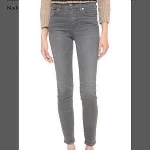 Madewell 37s Grey Mid Rise Skinny Jeans Size 28